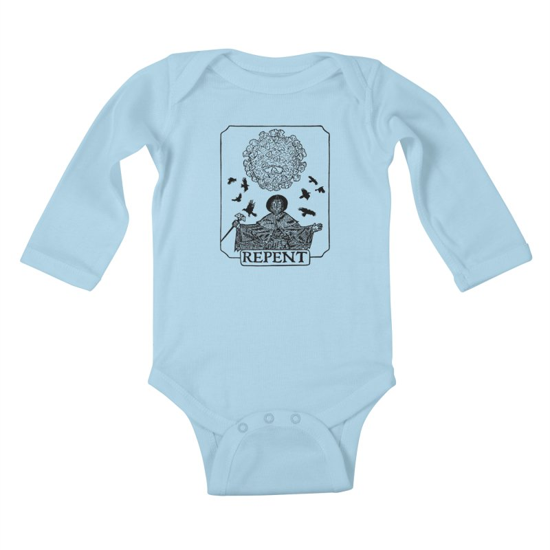 Repent Kids Baby Longsleeve Bodysuit by The Corey Press