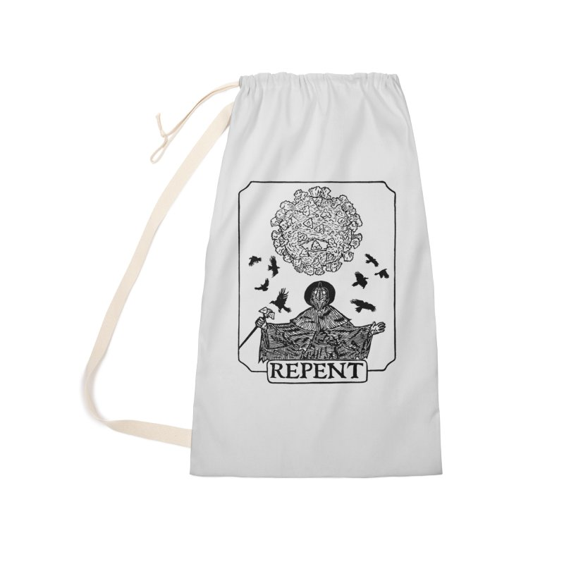 Repent Accessories Laundry Bag Bag by The Corey Press