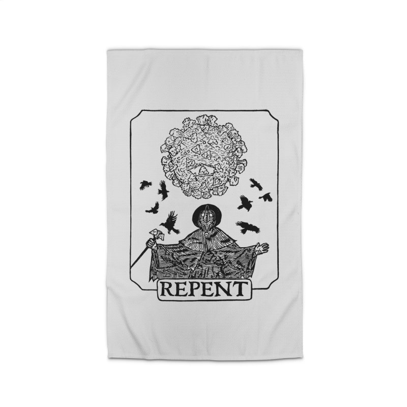 Repent Home Rug by The Corey Press