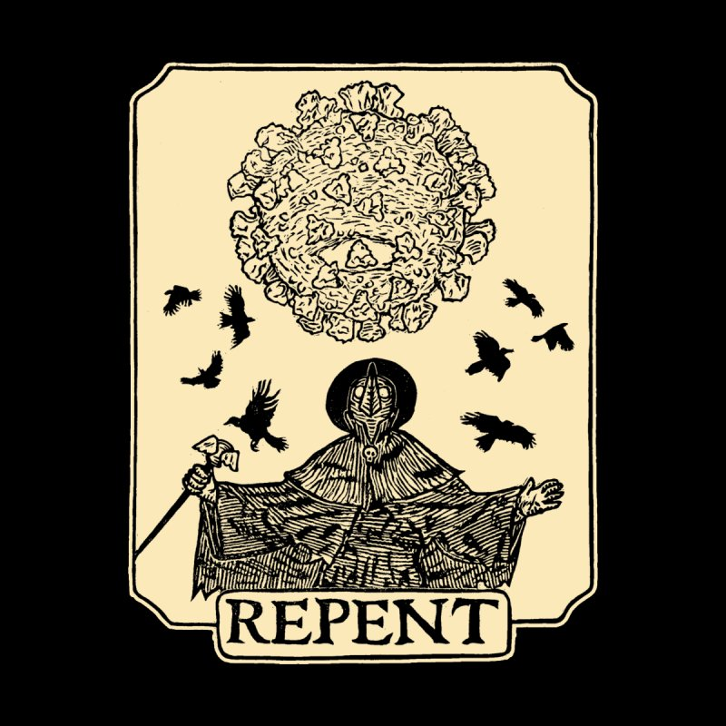 Repent Home Tapestry by The Corey Press
