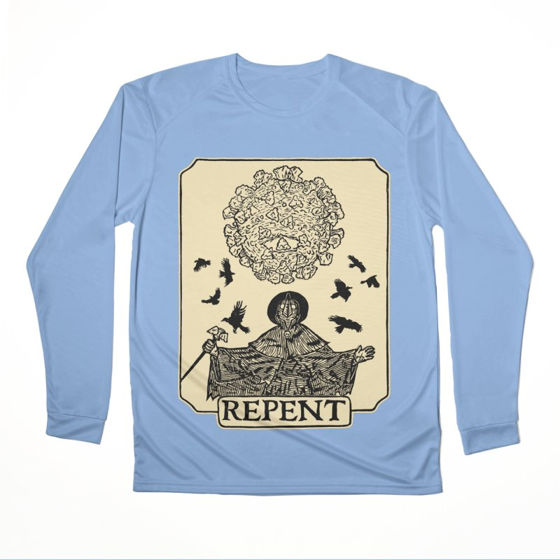 Repent Men's Longsleeve T-Shirt by The Corey Press