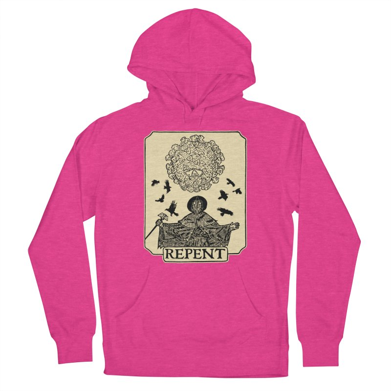 Repent Women's French Terry Pullover Hoody by The Corey Press
