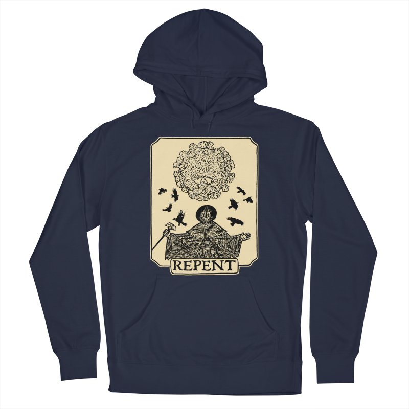 Repent Men's French Terry Pullover Hoody by The Corey Press