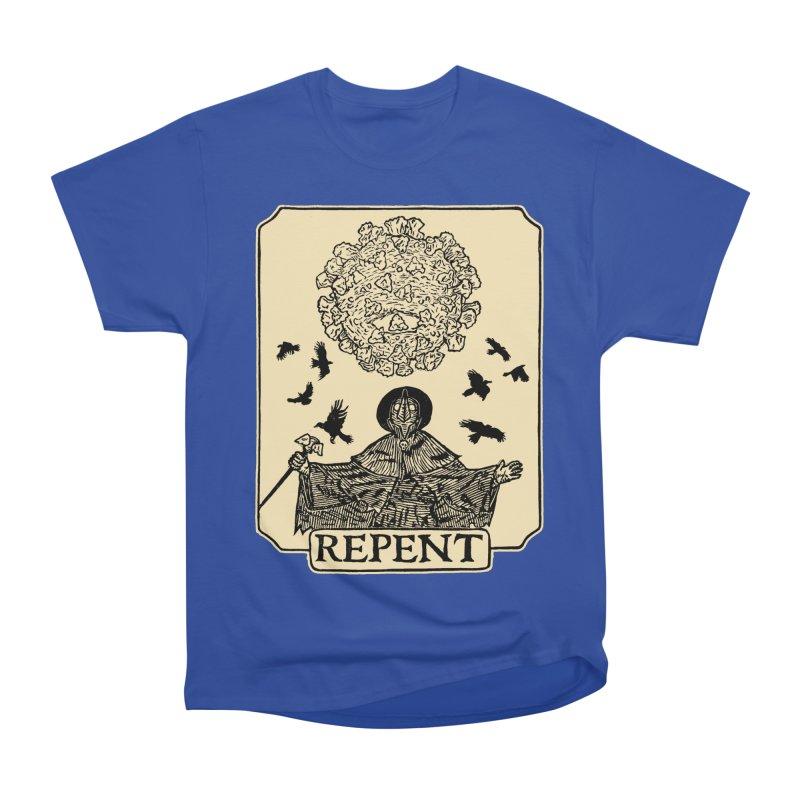 Repent Women's Heavyweight Unisex T-Shirt by The Corey Press