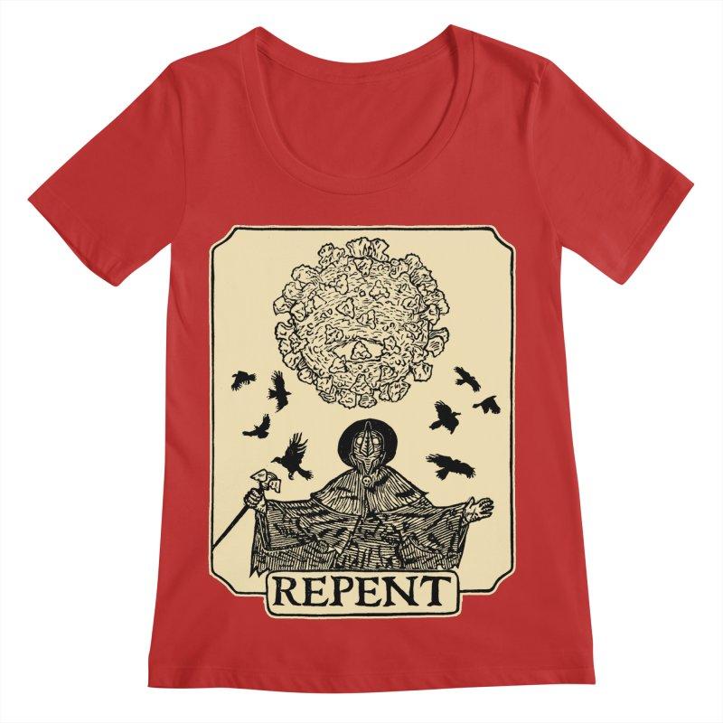 Repent Women's Regular Scoop Neck by The Corey Press