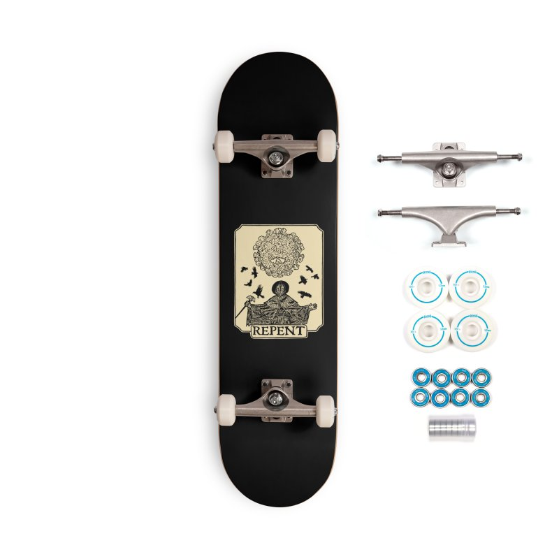 Repent Accessories Complete - Basic Skateboard by The Corey Press