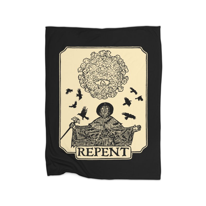 Repent Home Fleece Blanket Blanket by The Corey Press