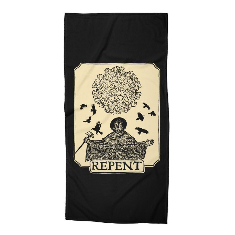 Repent Accessories Beach Towel by The Corey Press