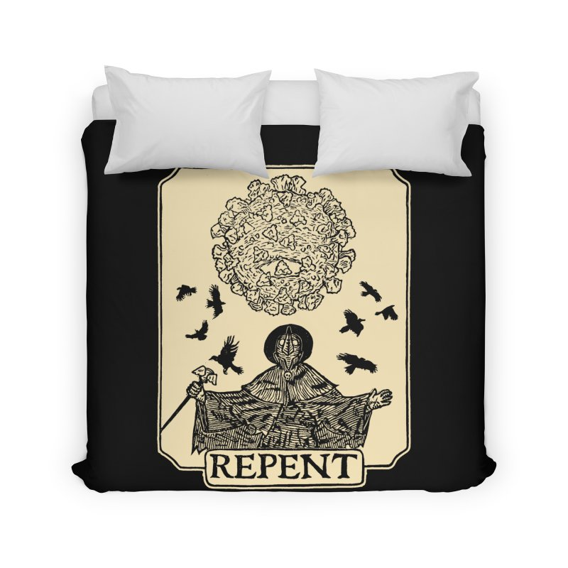 Repent Home Duvet by The Corey Press