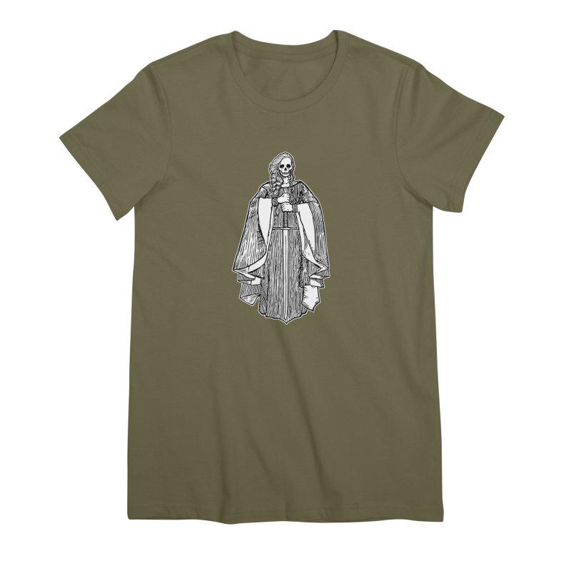 The Grim Lady Women's Premium T-Shirt by The Corey Press
