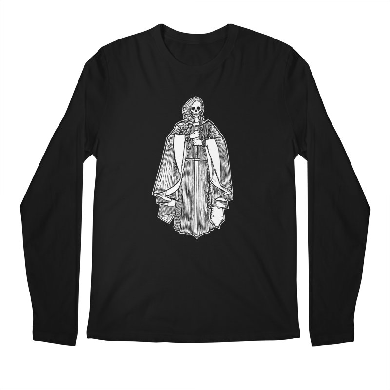 The Grim Lady Men's Regular Longsleeve T-Shirt by The Corey Press