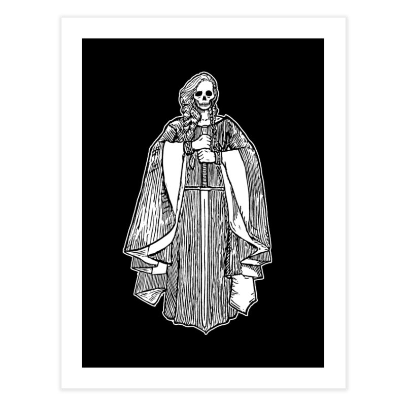 The Grim Lady Home Fine Art Print by The Corey Press