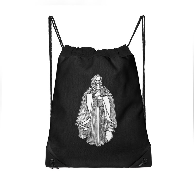 The Grim Lady Accessories Drawstring Bag Bag by The Corey Press