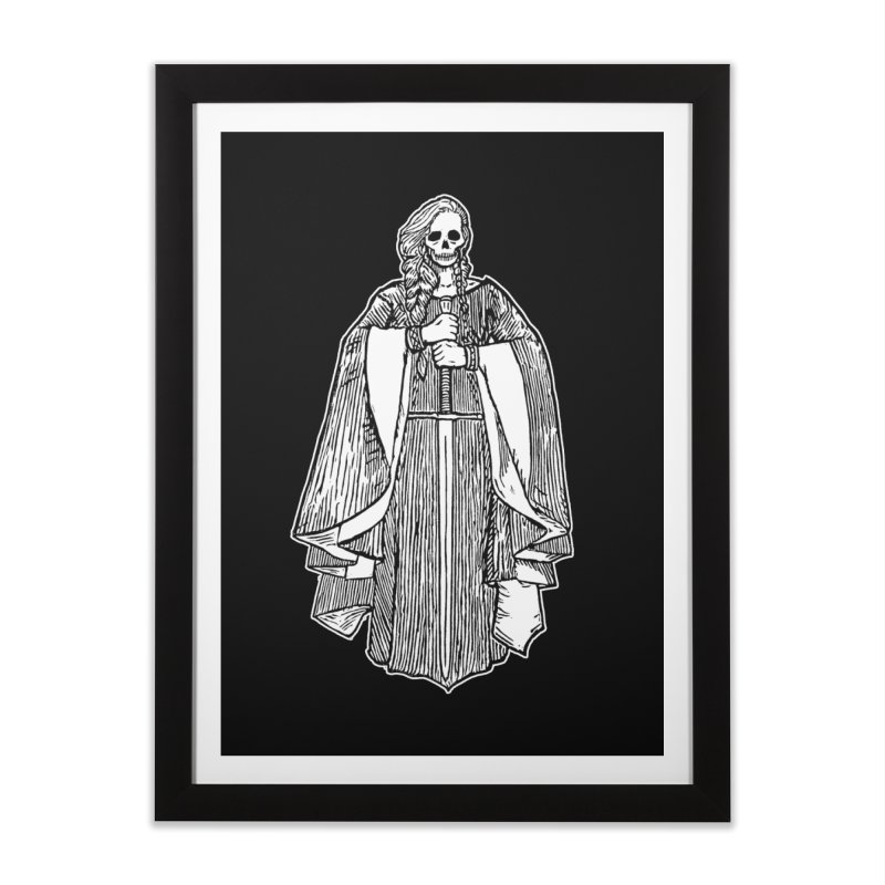 The Grim Lady Home Framed Fine Art Print by The Corey Press