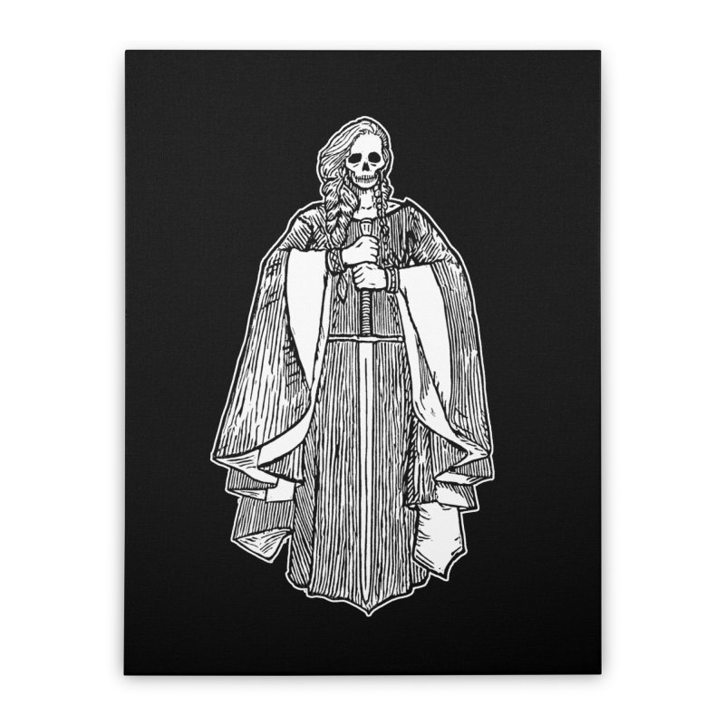 The Grim Lady Home Stretched Canvas by The Corey Press