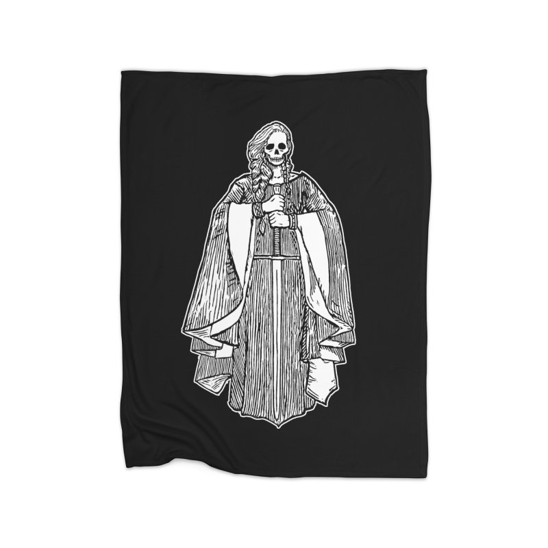 The Grim Lady Home Fleece Blanket Blanket by The Corey Press