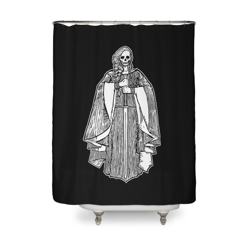 The Grim Lady Home Shower Curtain by The Corey Press