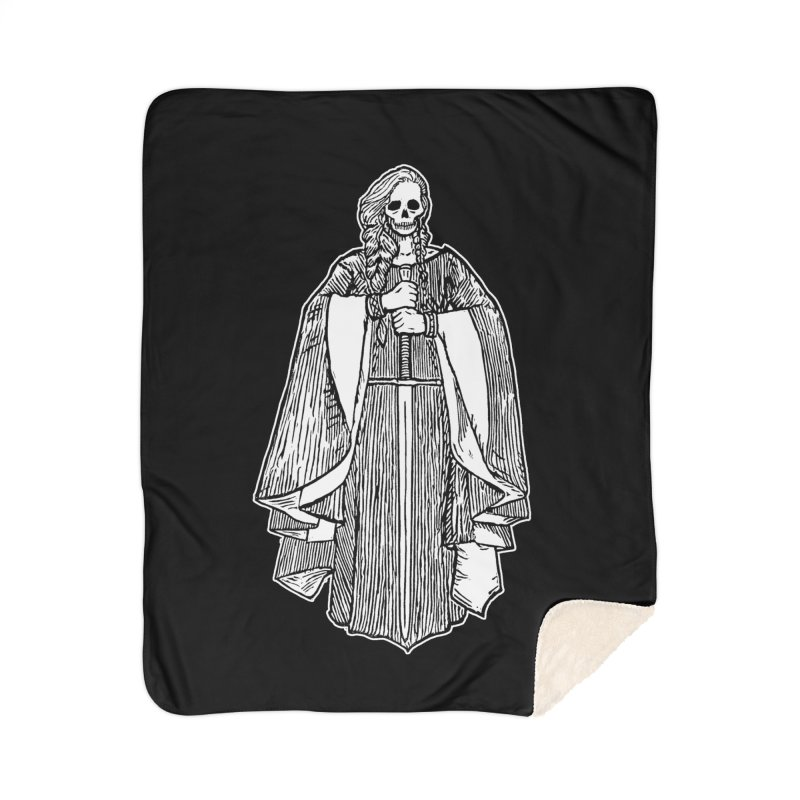 The Grim Lady Home Sherpa Blanket Blanket by The Corey Press