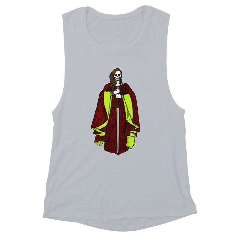 The Grim Lady Women's Muscle Tank by The Corey Press