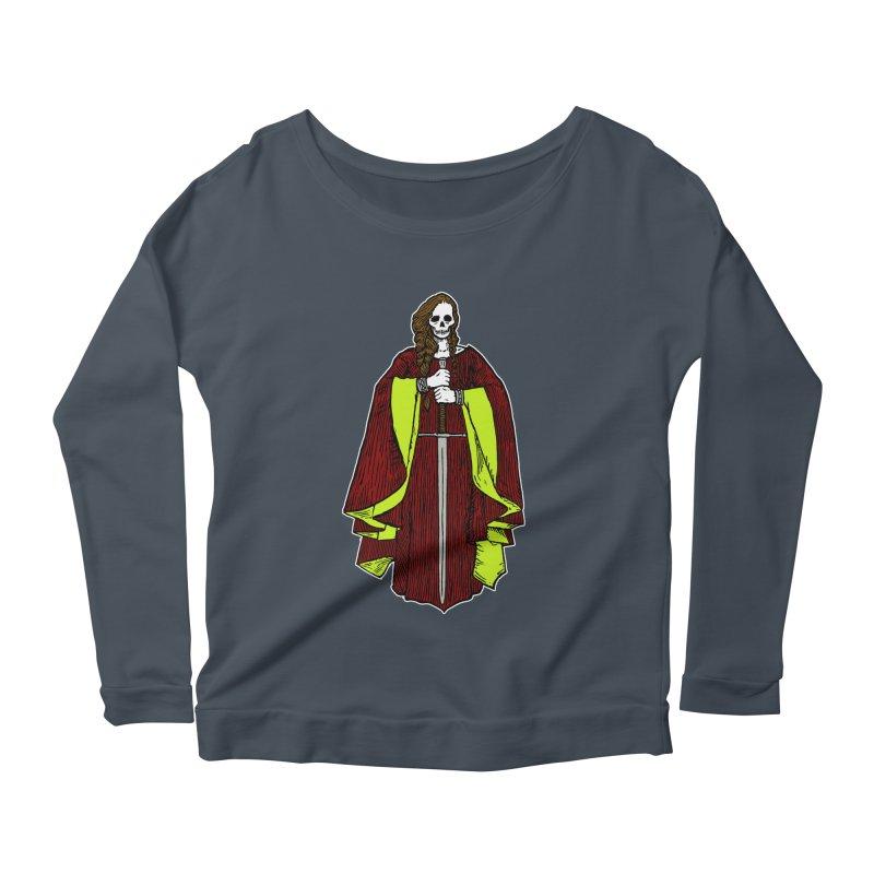 The Grim Lady Women's Scoop Neck Longsleeve T-Shirt by The Corey Press