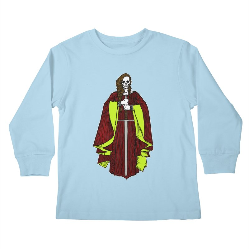 The Grim Lady Kids Longsleeve T-Shirt by The Corey Press