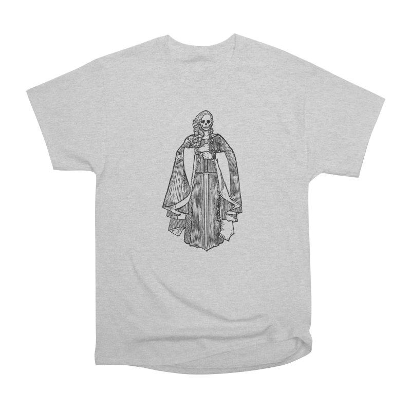 The Grim Lady Women's Heavyweight Unisex T-Shirt by The Corey Press