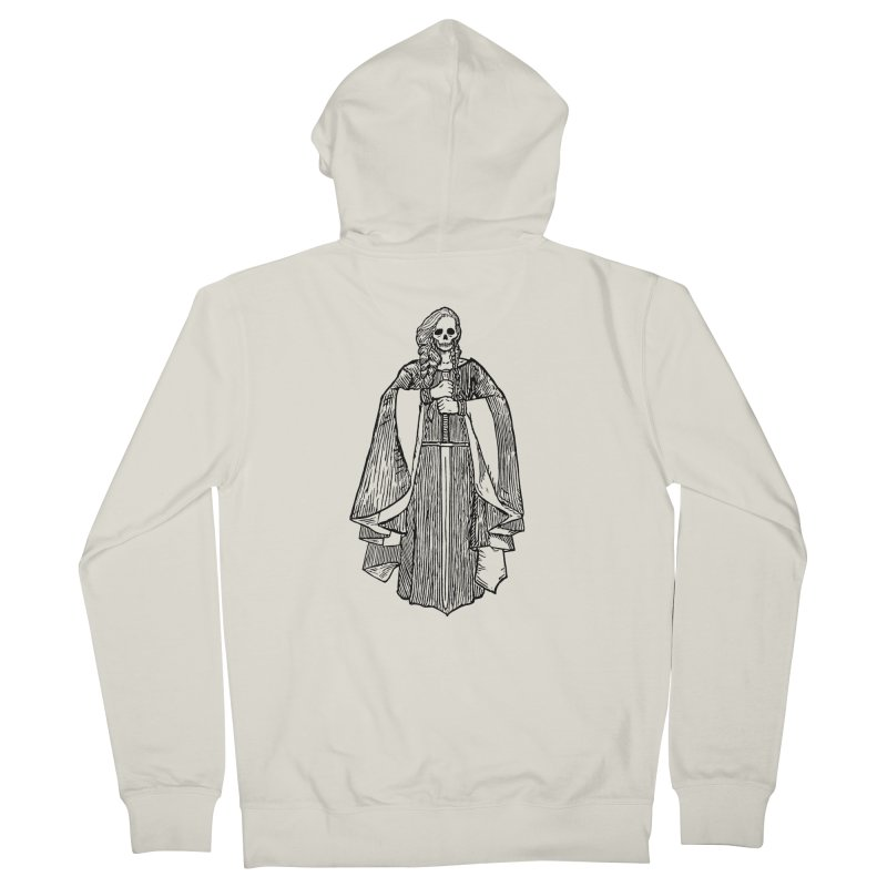 The Grim Lady Women's French Terry Zip-Up Hoody by The Corey Press