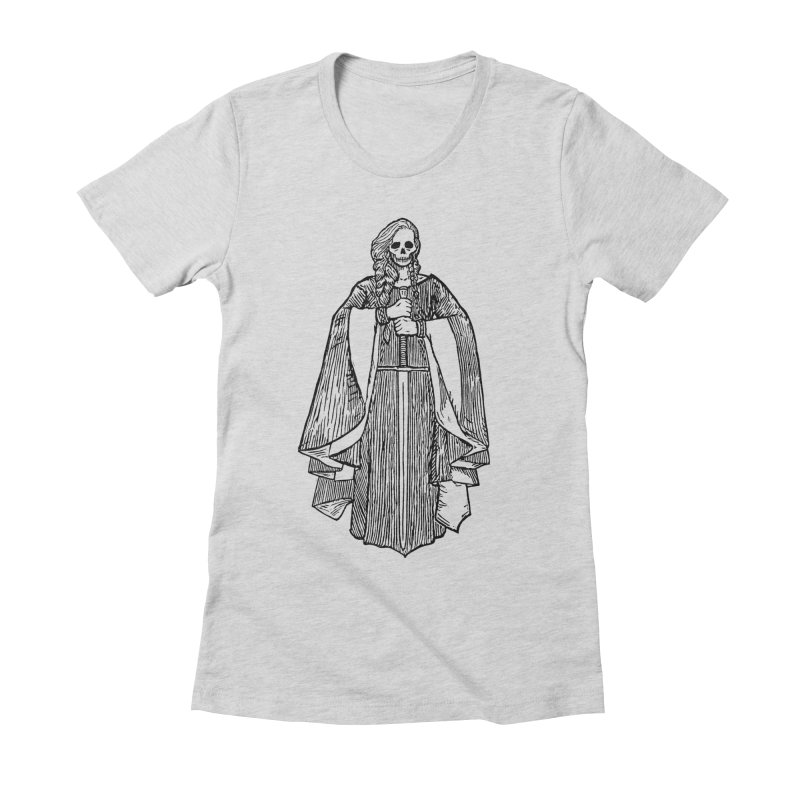 The Grim Lady Women's Fitted T-Shirt by The Corey Press