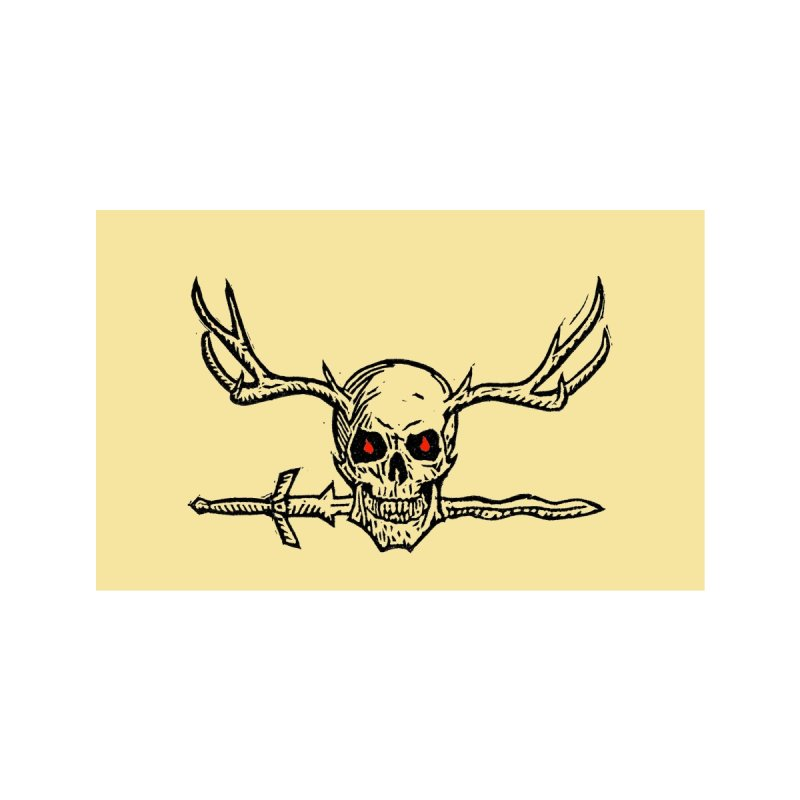 Horned Skull Mask Accessories Face Mask by The Corey Press
