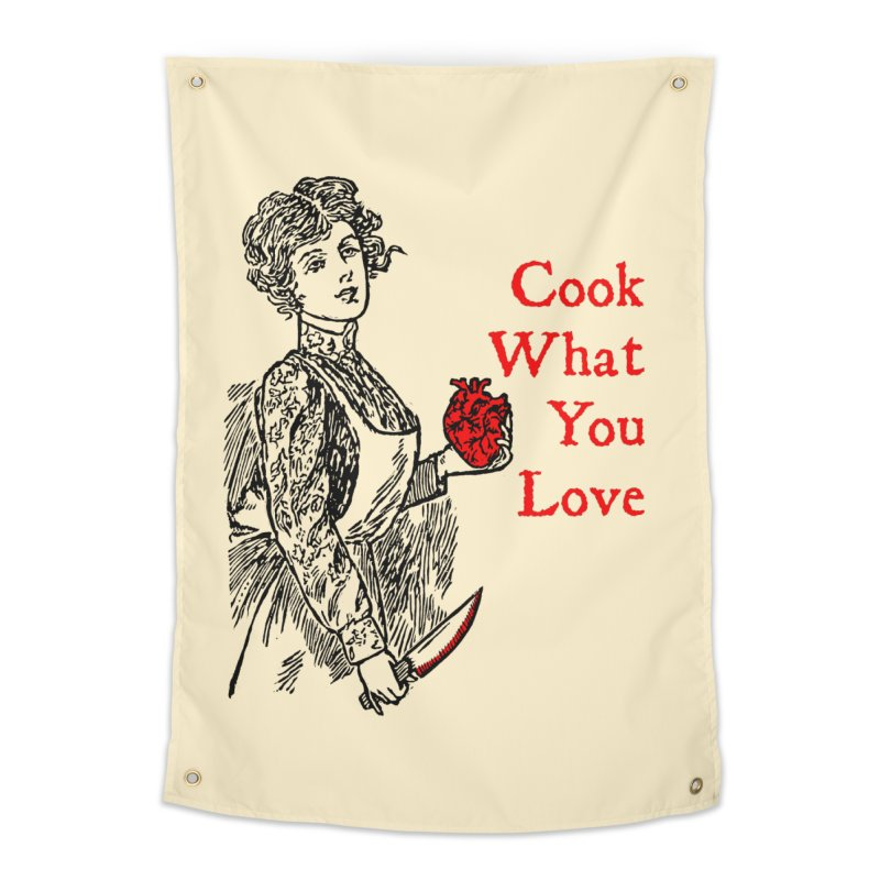 Cook What You Love Home Tapestry by The Corey Press