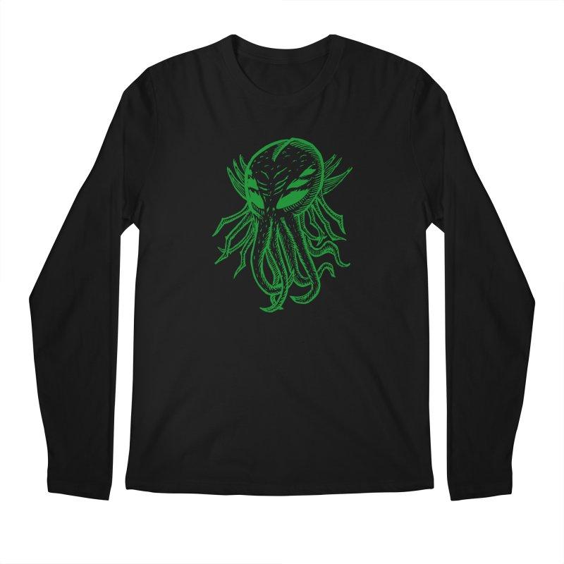 Cthulhu Icon - Green Ink Men's Regular Longsleeve T-Shirt by The Corey Press