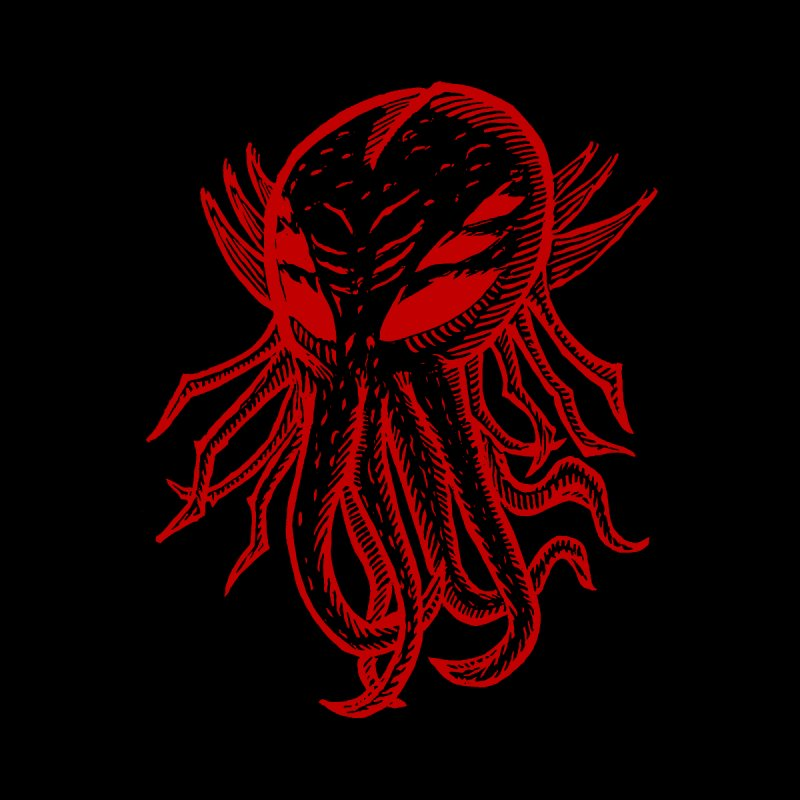 Cthulhu Icon - Red Ink by The Corey Press