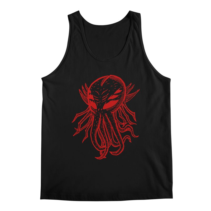 Cthulhu Icon - Red Ink Men's Regular Tank by The Corey Press