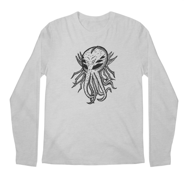 Cthulhu Icon - Black Ink Men's Regular Longsleeve T-Shirt by The Corey Press