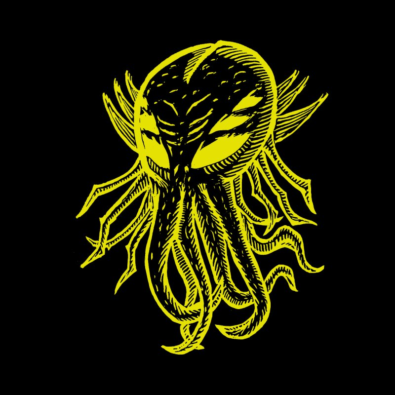 Cthulhu Icon - Yellow Ink Men's T-Shirt by The Corey Press