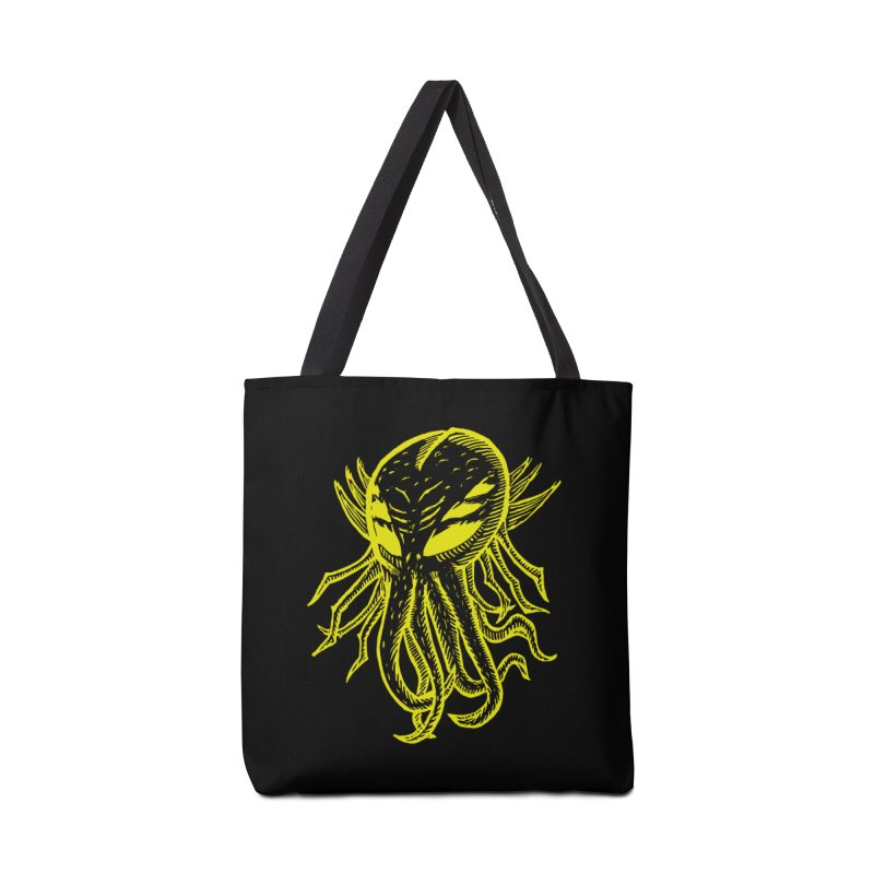 Cthulhu Icon - Yellow Ink Accessories Bag by The Corey Press