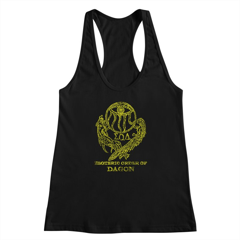 Esoteric Order of Dagon (Faded Yellow) Women's Racerback Tank by The Corey Press