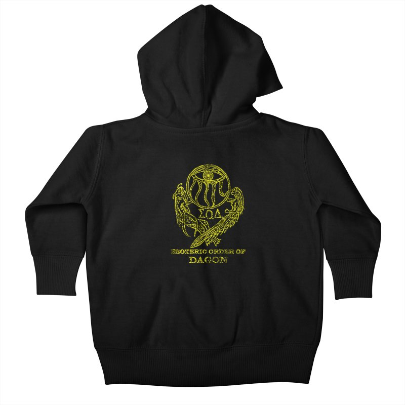 Esoteric Order of Dagon (Faded Yellow) Kids Baby Zip-Up Hoody by The Corey Press