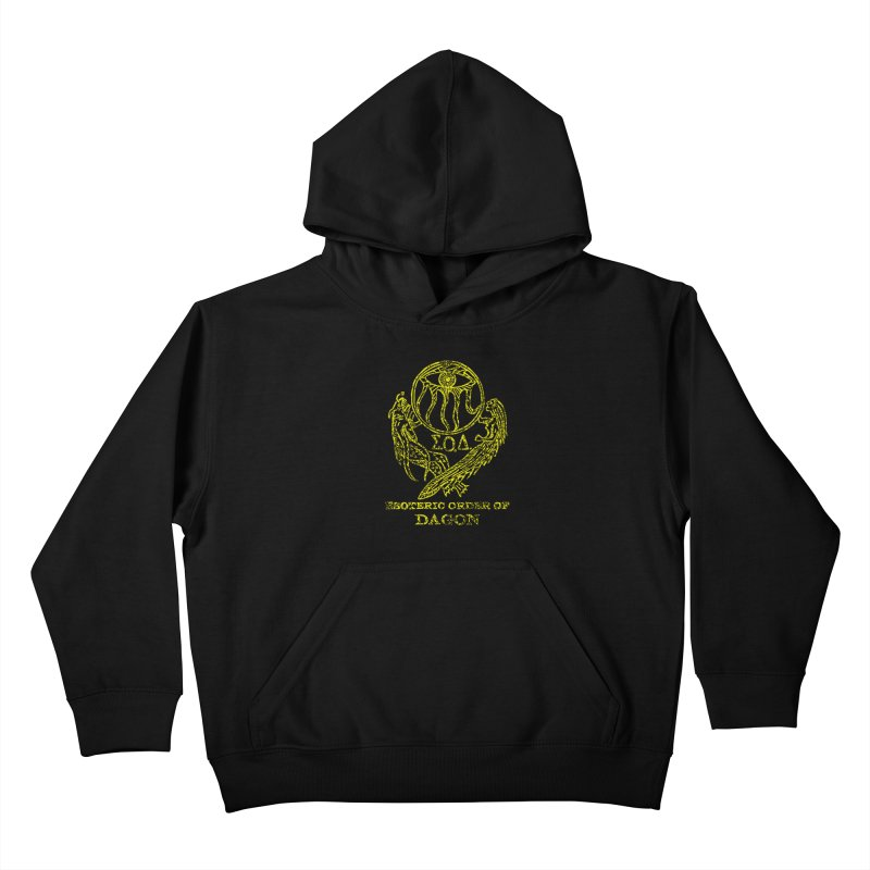 Esoteric Order of Dagon (Faded Yellow) Kids Pullover Hoody by The Corey Press