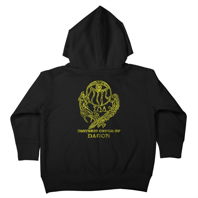 Esoteric Order of Dagon (Faded Yellow) Kids Toddler Zip-Up Hoody by The Corey Press