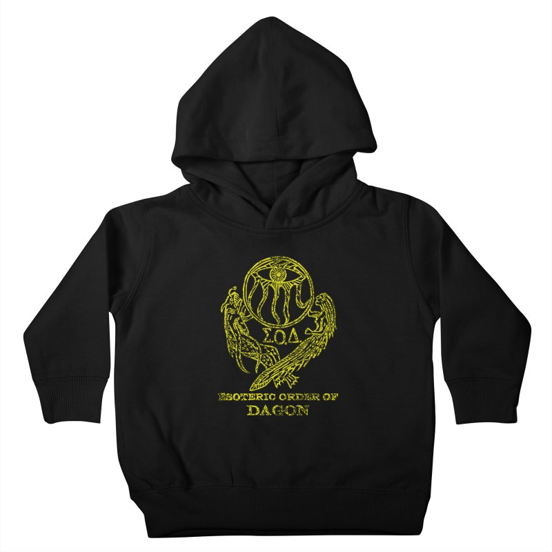Esoteric Order of Dagon (Faded Yellow) Kids Toddler Pullover Hoody by The Corey Press