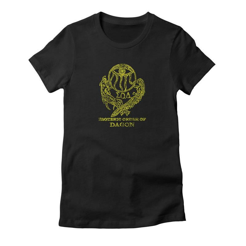 Esoteric Order of Dagon (Faded Yellow) Women's Fitted T-Shirt by The Corey Press
