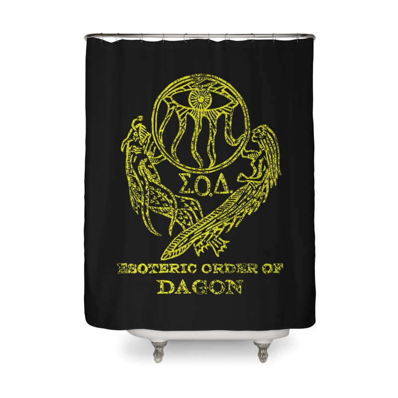 Esoteric Order of Dagon (Faded Yellow) Home Shower Curtain by The Corey Press
