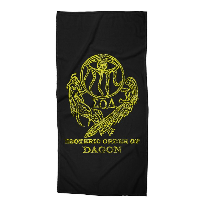 Esoteric Order of Dagon (Faded Yellow) Accessories Beach Towel by The Corey Press