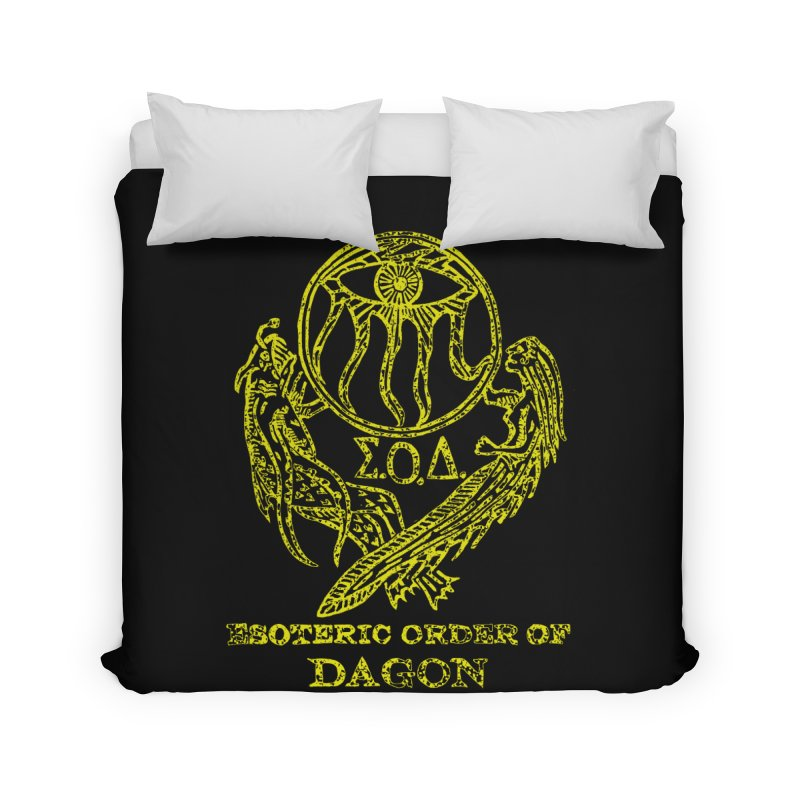 Esoteric Order of Dagon (Faded Yellow) Home Duvet by The Corey Press