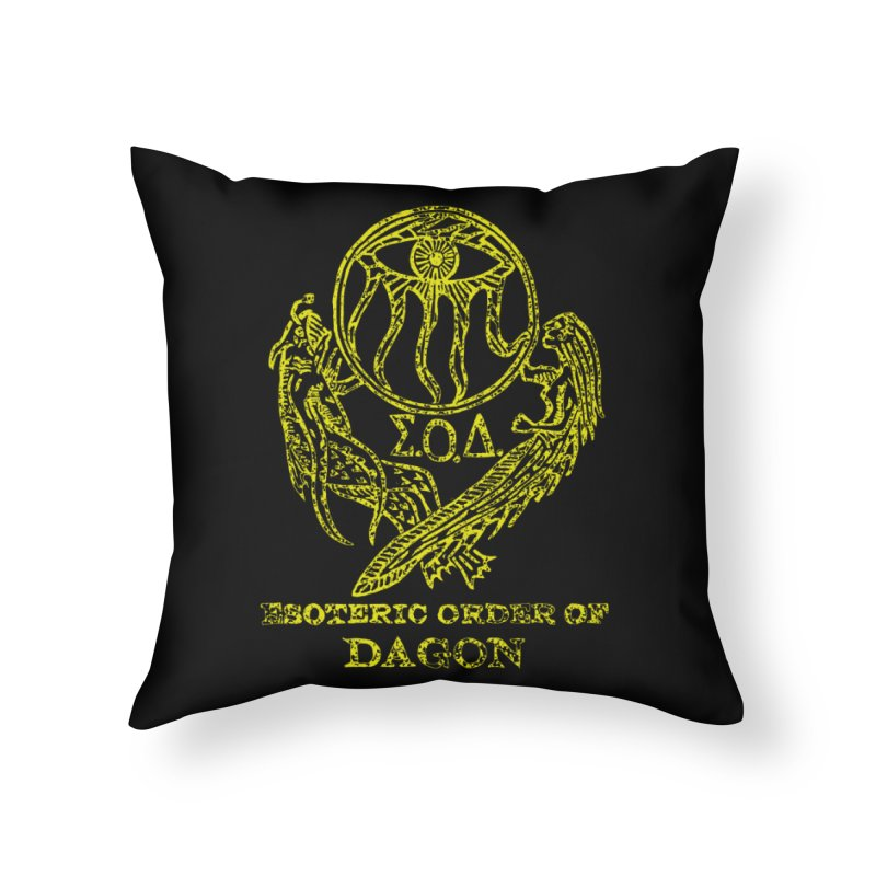 Esoteric Order of Dagon (Faded Yellow) Home Throw Pillow by The Corey Press
