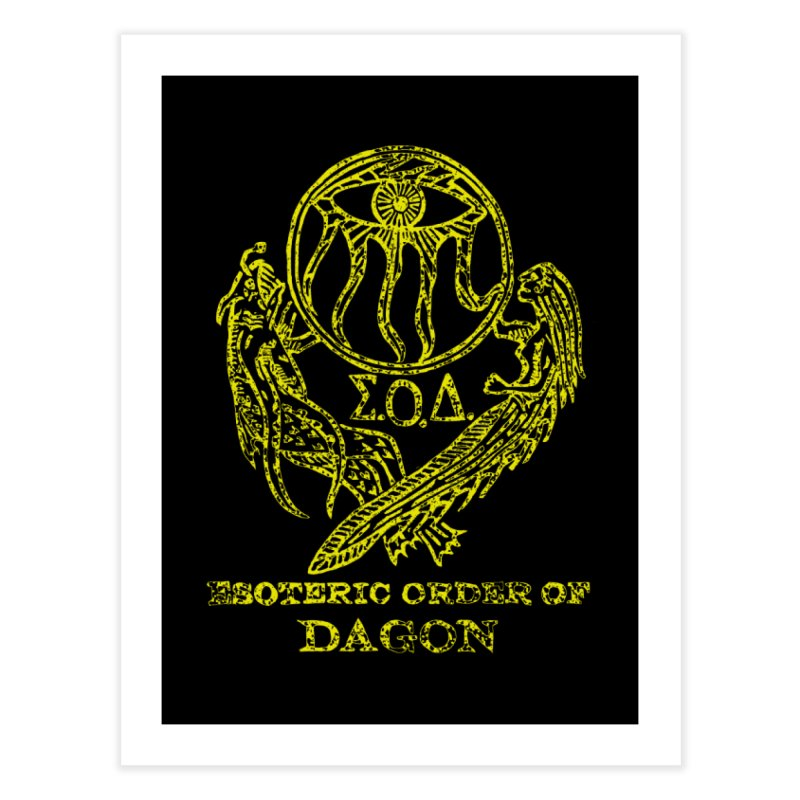 Esoteric Order of Dagon (Faded Yellow) Home Fine Art Print by The Corey Press