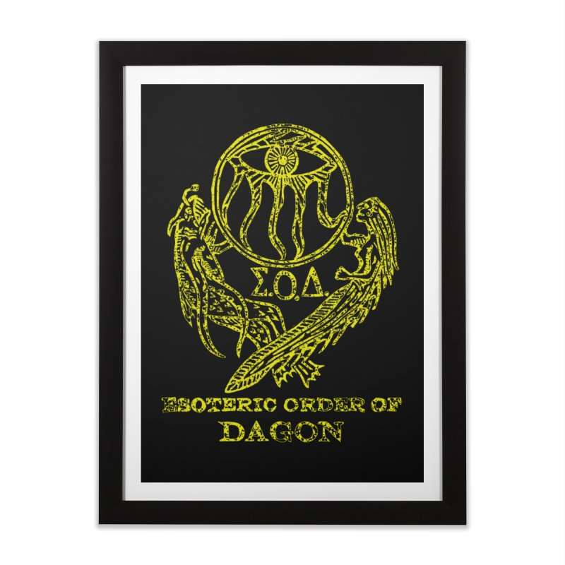 Esoteric Order of Dagon (Faded Yellow) Home Framed Fine Art Print by The Corey Press