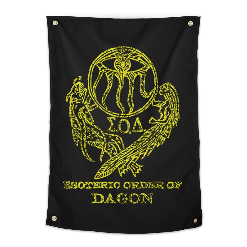 Esoteric Order of Dagon (Faded Yellow) Home Tapestry by The Corey Press