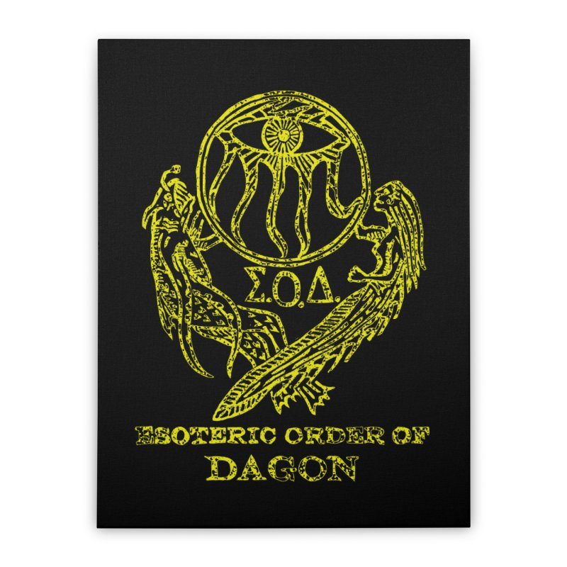 Esoteric Order of Dagon (Faded Yellow) Home Stretched Canvas by The Corey Press